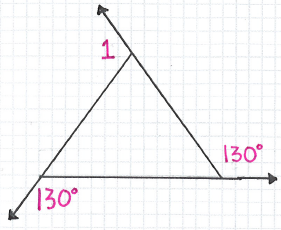 by the exterior angle sum theorem